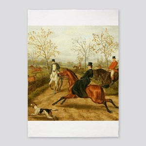 Riding Sidesaddle to the Hunt 5'x7'Area Rug